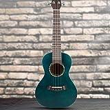 23 '' Portátil de Caoba Africana Estilo Antiguo Ukelele 4 cuerdas Hawaii guitarra instrumento musical(verde oscuro)