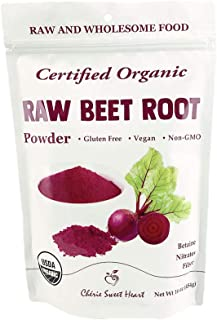 Organic Beet Root Powder (1 lb) by Chérie Sweet Heart, Raw & Non-GMO (1)
