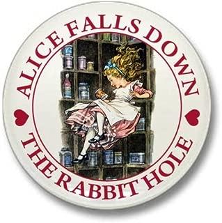 CafePress Alice Falls Down the Rabbit Hole Mini Button 1