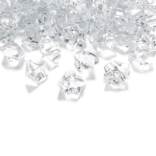 goodymax 50 Kristall-Steine Farblos/Klar 25 mm - EIS Deko Streudeko Diamanten Tischdeko