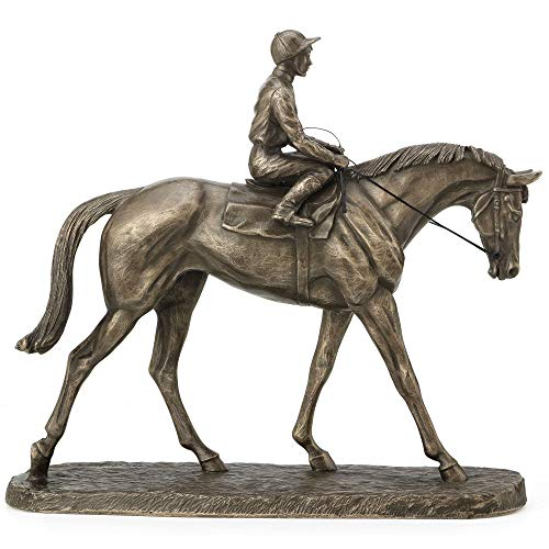 Fiesta Studios Going To The Post by Harriet Glen Bronzefigur, 22 cm hoch
