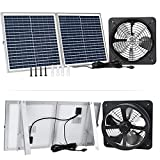 ECO-WORTHY 30W Solar Attic Fan Kit, 30W Foldable Solar Panel and 14' DC Fan with 25W Motor for Roof Vent or Chicken Coop and Greenhouse