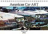 American Car ART (Tischkalender 2021 DIN A5 quer): Amerikanische Autolegenden der Vergangenheit und Gegenwart kunstvoll bearbeitet. (Monatskalender, 14 Seiten )