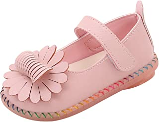 Lucoo Girls Ballet Flats Flowers Shoes Princess Leather Shoes Mary Jane Flat Crib Shoes Sneaker