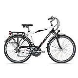 TORPADO Bici City Navigator Lux 28' Alu 3x7v Taglia 48 Nero Bianco (City)