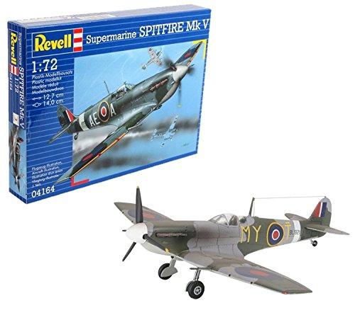 Revell Spitfire MK.V, Kit de Modelo, Escala 1:72 (4164) (04164), 12,7 cm de Largo