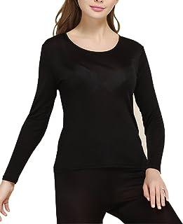 Fashion Silk Women's Thermal Underwear Sets Knit Silk Long Johns for Women Base Layering Sets