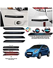 BUY HAPPYAMMY SHOP Bumper Protector Guard Single Chrome Strip (Big) Strip 4PCS Black (for Maruti Suzuki A-Star)