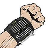 Magnetic Wristband, KUSONKEY Tool Belt with 15 Powerful Magnets for Holding Screws/Nails/Drill Bits, Versatile Christmas Gift for Him/Men/Father/Dad/DIY Handyman/Electrician/Husband/Boyfriend