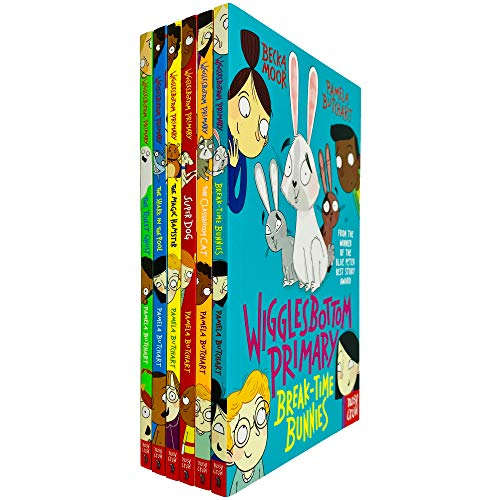 Wigglesbottom Primary Series 6 Books Collection (The Toilet Ghost, The Shark in the Pool ,The Magic Hamster,Super Dog,The Classroom Cat,Break-Time Bunnies)