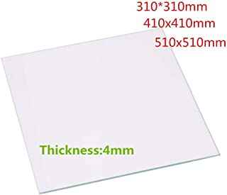 YOUKITTY 3D Printer Parts Borosilicate Glass Plate 310x310x4mm for Creality CR-10 Series CR-10 5S 3D Printer 4mm Thickness Custom Glass