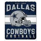 NFL Dallas Cowboys Singular Fleece Throw, 50-inch by 60-inch, Blue