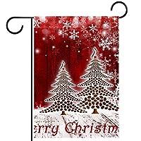ガーデンフラッグ縦型両面 12x18in 庭の屋外装飾.メリークリスマス