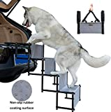 YEP HHO 4 Steps Upgraded Folding Pet Stairs Ramp Lightweight Portable...