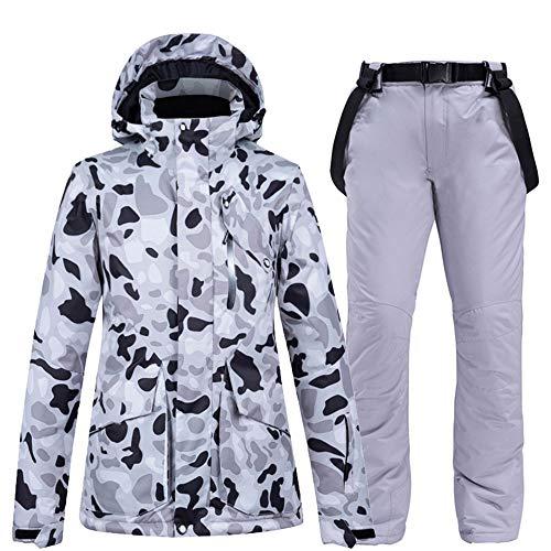 Skipak mannen en vrouwen pak paar modellen winter buiten fineer dubbel boord zilver ski ondergoed waterdichte warmte verdikking,Top + pants 3l