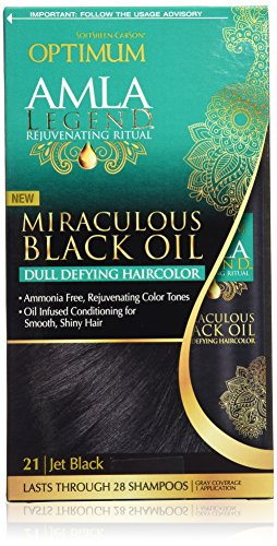 Optimum Care Amla Legend Miraculous Oil Dull Defying Hair Color, Jet Black