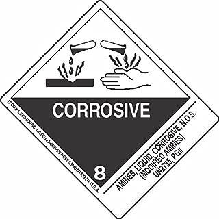 GC Labels-L303P3049, Amines, Liquid, Corrosive, N.O.S. (Modified Amines) UN2735, PGII, Roll of 500 Labels