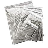 Gepolsterte Briefumschläge, metallische Folie, Luftpolsterverpackung, selbstversiegelnd, geschäftlich oder zu Hause