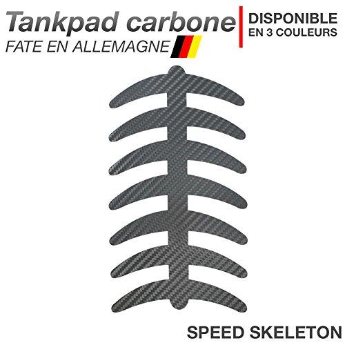 Motoking Tankpad Carbone Speed-Skeleton - réservoir de la Moto et de la Protection de la Peinture, Universel - Disponible en 3 Couleurs - Anthracite