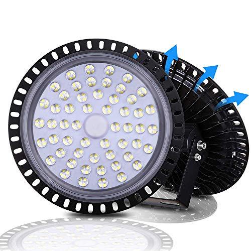 UFO LED High Bay Light, 6000-6500K, IP54, Waterproof Dust Proof, Warehouse LED Lights High Bay Lighting for Garage, Factory, Gymnasium, Basement, Parking(Newest Design )… (200W)