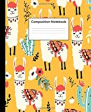 Composition Notebook: Wide Ruled Paper Notebook Journal   Cute Orange Wide Blank Lined Workbook for Teens Kids Students Girls for Home School College ... Notes   Nifty Llama & Succulents Pattern
