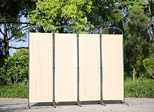 Angel Living Biombo Separador de 4 Paneles con el Techo y la Base de l