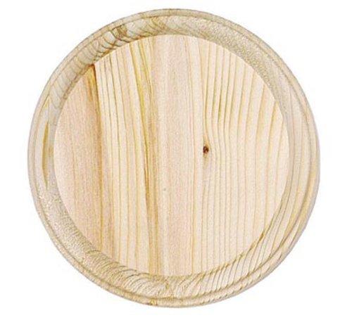 Darice Wooden Round Plaque, Natural