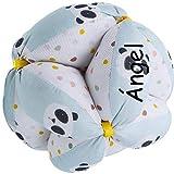 Pelota Montessori Personalizada de Tela para bebé (Pandas Mint)