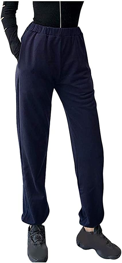 Hessimy Womens Athletic Cool Running Joggers Track Pants Pockets Sports Sweatpants