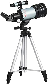 Space Astronomic Telescope,F30070 Outdoor Monocular Telescope with Portable Tripod for Professional Adults Kids Moon Star ...