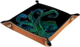 BestIdeas Panier de rangement carré de 20,5 × 20,5 cm, avec peinture à l'aquarelle, boîte de rangement sur table pour la m...