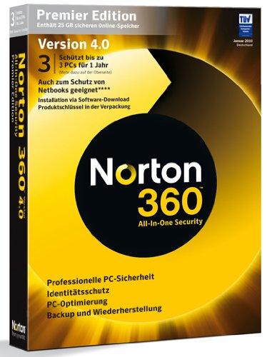 NORTON 360 PREMIER EDITION v4.0 3 Benutzer - deutsch [import allemand]