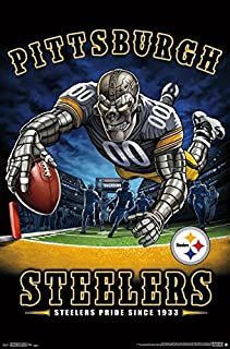 Trends International NFL Pittsburgh Steelers - End Zone Wall Poster, 22.375