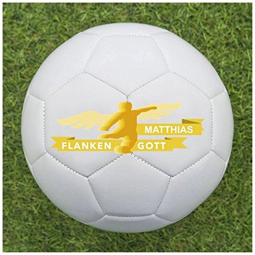Balleristo Fußball als Geschenk Personalisieren [Flankengott] - Fußball selbst gestalten und mit eigenem Text oder Namen Bedrucken Lassen