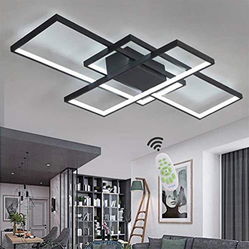 LED Deckenleuchte Wohnzimmer Lampen Dimmbar Deckenlampe Modern Eckig Design Decke Leuchen Aluminium Lampenschirm Pendelleuchte Wohnzimmerlampe Schlafzimmerlampe Esszimmerlampe Küchelampe