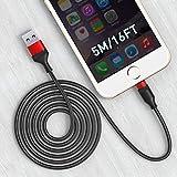 Câble de chargeur long pour phone Cordon de charge extra-long de 16 pieds, cordon de charge rapide...
