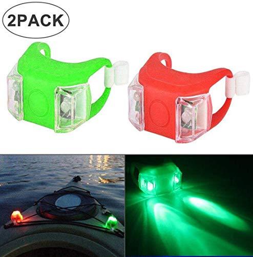 Womdee 2 Stück LED Marine Navigationslichter, Nachtlauf Led Heck Sicherheitslichter Mit 3 Modi, Notlichter Für Boot Kajak Bow Bike Haustiere Motorboot - Batterie Inklusive, Grün Rot