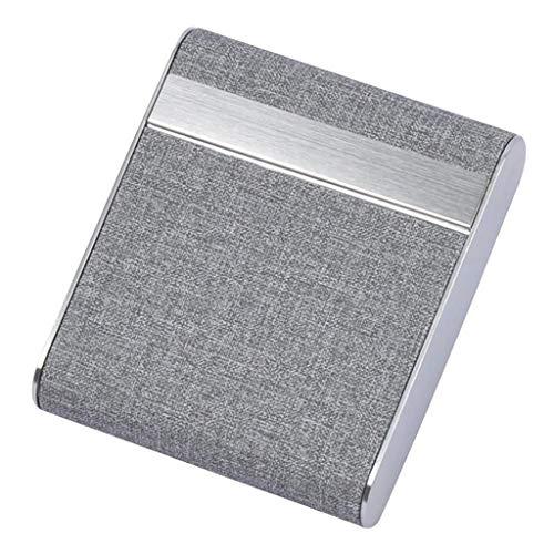 SMEJS Caja de Cigarrillos para cigarros Soporte para Tabaco Caja de Bolsillo Contenedor de Almacenamiento Tarjeta de PU de Acero Inoxidable Accesorios para Estuche (Color : A)