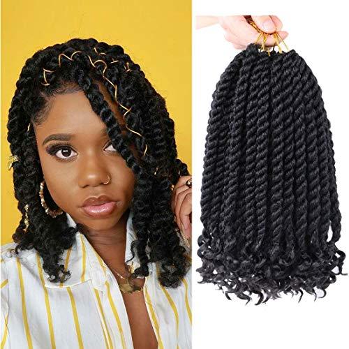 12 Inch Crochet Braids Senegalese Twist Crochet Hair For Black Women 6 Pack Havana Twist crochet hair With Curly Ends 1B#