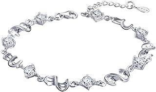 Elementi Argento cristallo Swarovski Saluto Bracciale a catena Donna - cristallo