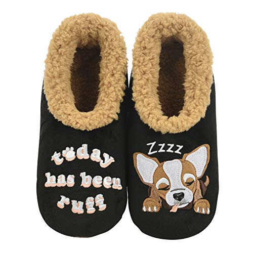 Snoozies Mens Slippers - Pairables House Slippers for Men - Today Has Been Ruff - X-Large