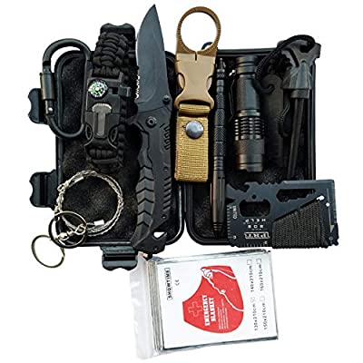 Mrignt Survival Kits 12-in-1, Emergency Tools Gift for Men, Professional First aid Survival Kits
