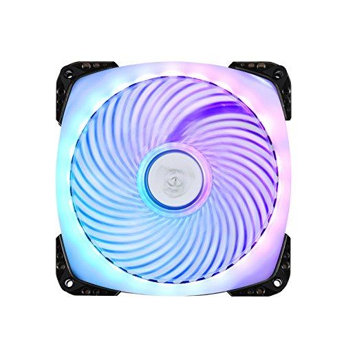 SilverStone SST-AP142-ARGB - Air Penetrator Ventilador de refrigeración de 140mm PWM, Rodamientos de bolas, Aspas transparentes con marco negro, Alto flujo de aire, RGB programable