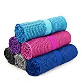 Cool Towel anngrowy Microfiber Cooling Towel for Neck Ice Cold Towels for Outdoor Sports Travel Gym Workout Fitness Yoga Pilates Camping Golf Running Swimming Athletes Towels, Absorbent, Lightweight