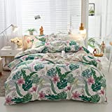 B/H Juego de Fundas de Microfibra Premium,Funda de edredón Floral de algodón Four Seasons-W_220 * 240cm,Colchón Protector Cama Doble