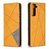 DEBF090349 - Funda de piel tipo cartera para Galaxy S21+ (S21Plus), con función atril, cierre...