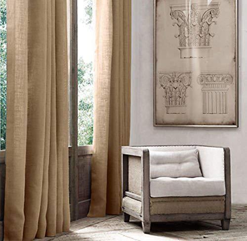 """AK-Trading Burlap Drape Panel 2pc Set Backdrop 100% Jute Curtain 5ft x 8ft (60"""" X 96"""") - Natural"""