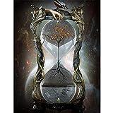 Kit de pintura diamante 5D completo,Paisaje Fantasía Reloj de arenaSquare drill,60x80cm