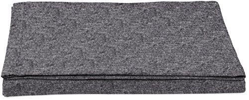 Amazon Basics - Spannbettlaken, melierter Jersey-Stoff, 180 x 290 + 10 cm - Dunkelgrau