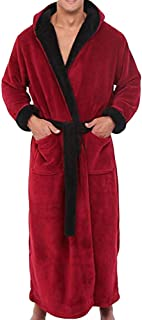 Men's Winter Lengthened Plush Shawl Bathrobe Home Clothes Long Sleeved Seamless Robe Coat
